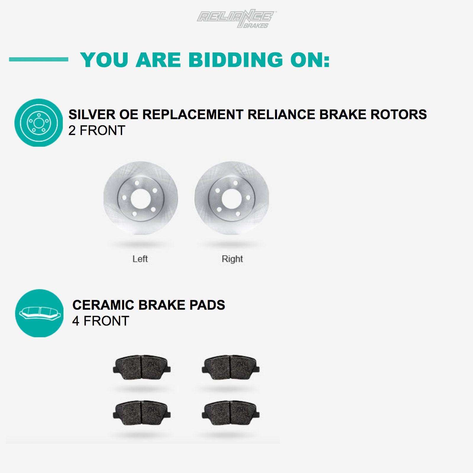 CLS550 Rear  Blank Brake Rotors+Ceramic Brake Pads Fit Mercedes-Benz CLS500