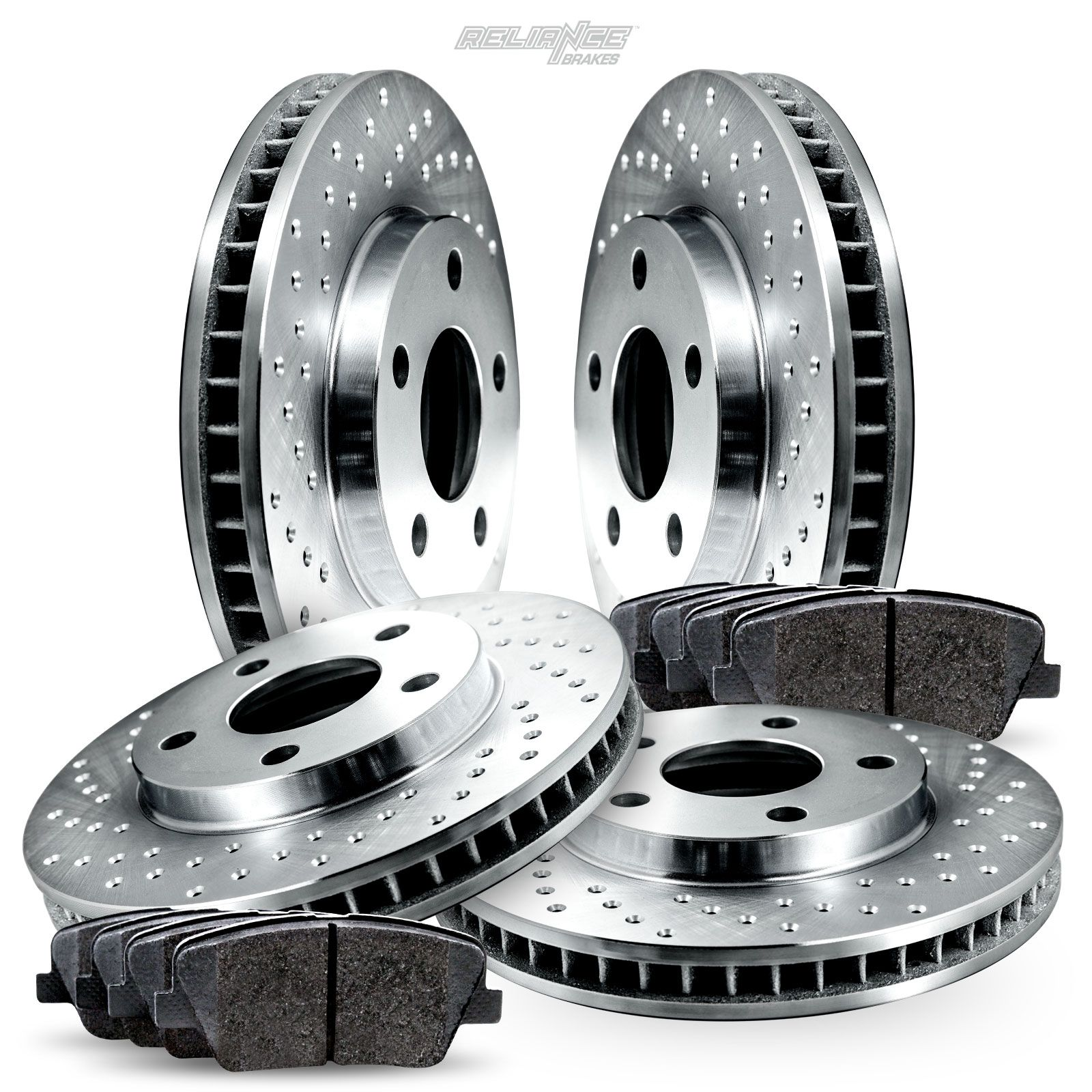 Front Drilled /& Slotted Brake Rotors Ceramic Pads For 2010 2011 2012 Lexus LS460