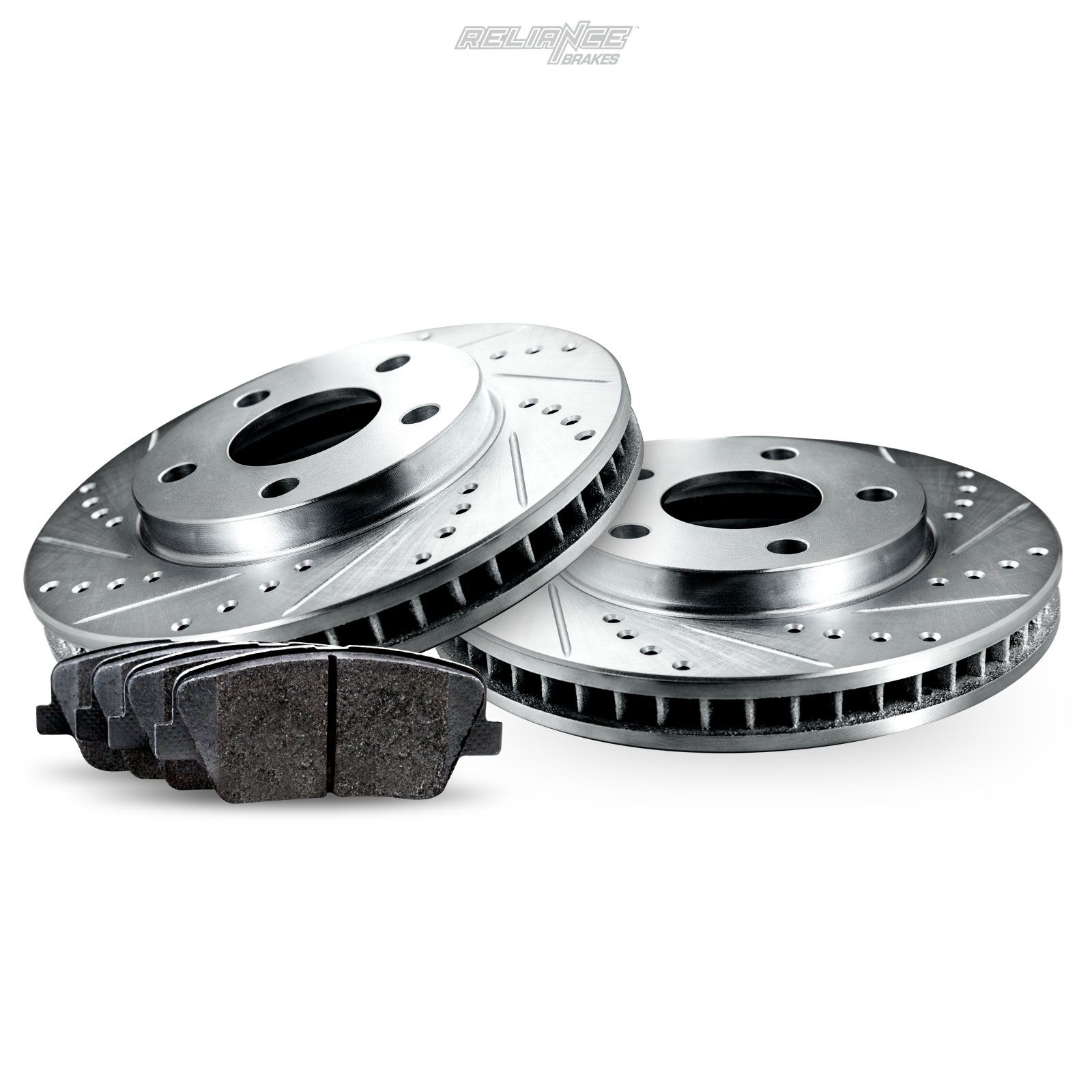 Spectra Front Rear  Drill Slot Brake Rotors+Ceramic Brake Pads For Kia Sephia